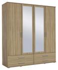 Drehtürenschrank Naturfarben - Alufarben/Naturfarben, MODERN, Holzwerkstoff/Kunststoff (168/188/52cm) - Modern Living