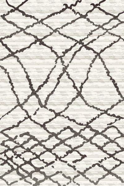 Webteppich Tina Creme, ca. 160x230cm - Anthrazit/Creme, KONVENTIONELL, Textil (160/230cm)