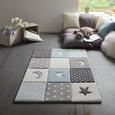 Kinderteppich Mickey Blau/Grau ca. 100x150cm - Blau, Textil (100/150cm) - Mömax modern living