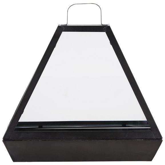 Gewächshaus Sade in Schwarz aus Glas - Klar/Schwarz, LIFESTYLE, Glas/Metall (46,5/38/20cm) - Modern Living