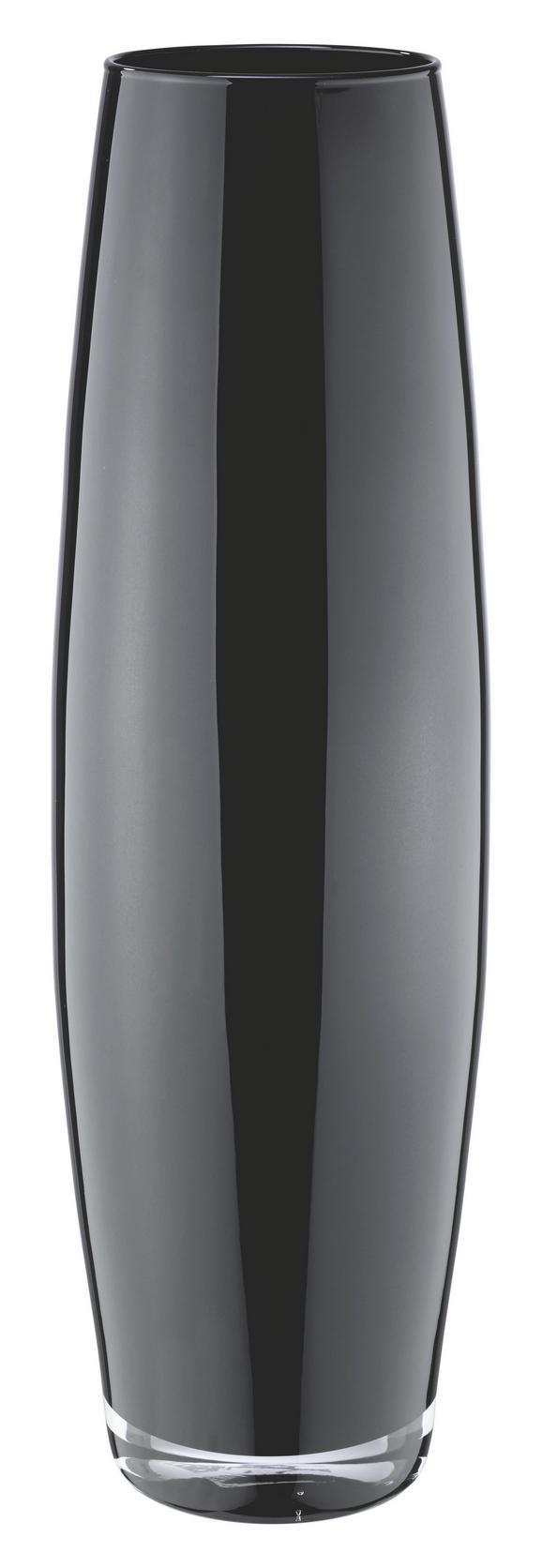Vase Jenny in verschiedenen Farben - Schwarz/Weiß, Glas (50cm) - Mömax modern living