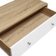 SIDEBOARD in Weiß/Pinienfarben 'Enny' - Weiß/Pinienfarben, MODERN, Holz/Metall (120/70/35cm) - Bessagi Home