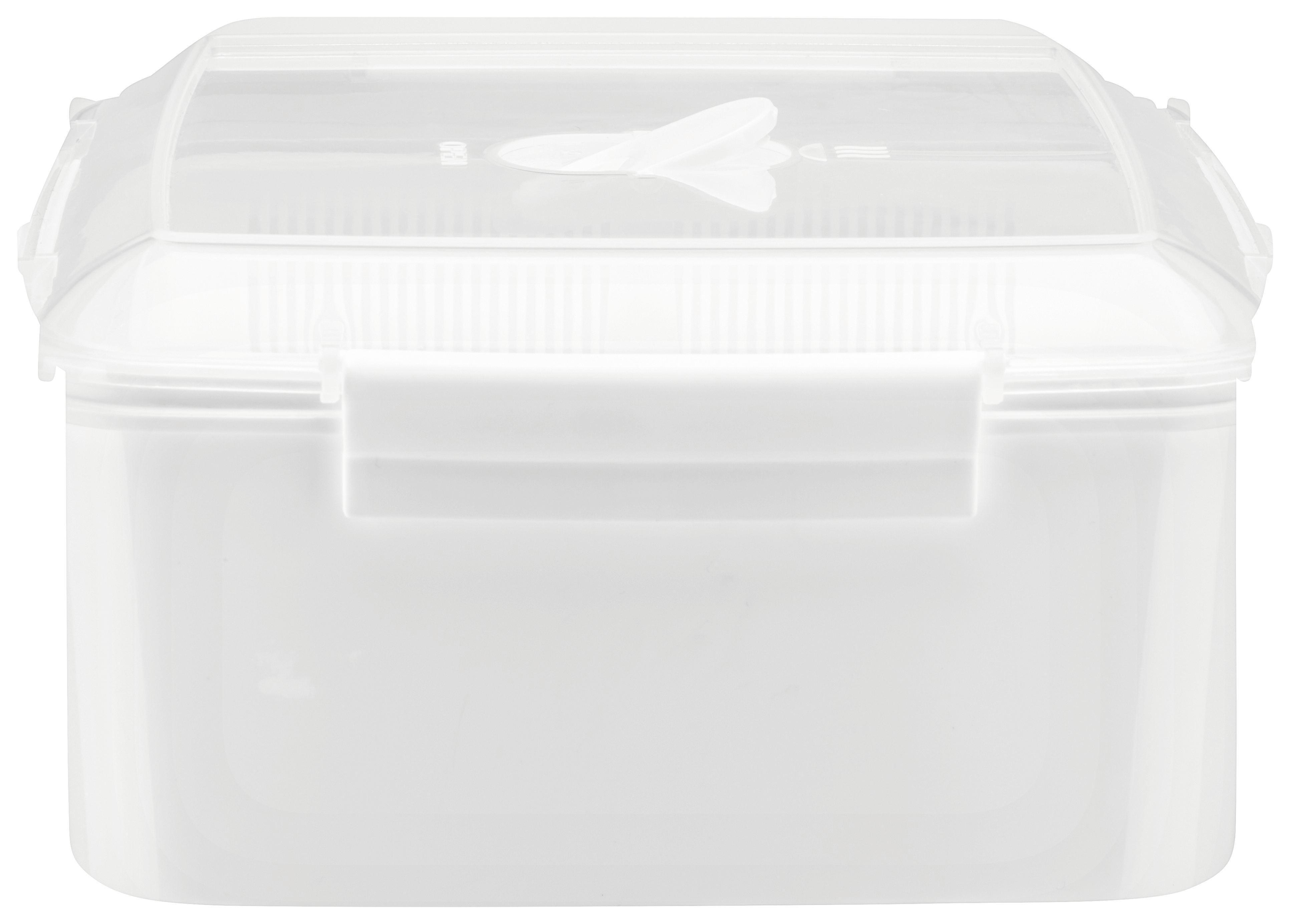 Ételtároló Doboz Mikka - áttetsző/fehér, műanyag (2,47l) - MÖMAX modern living