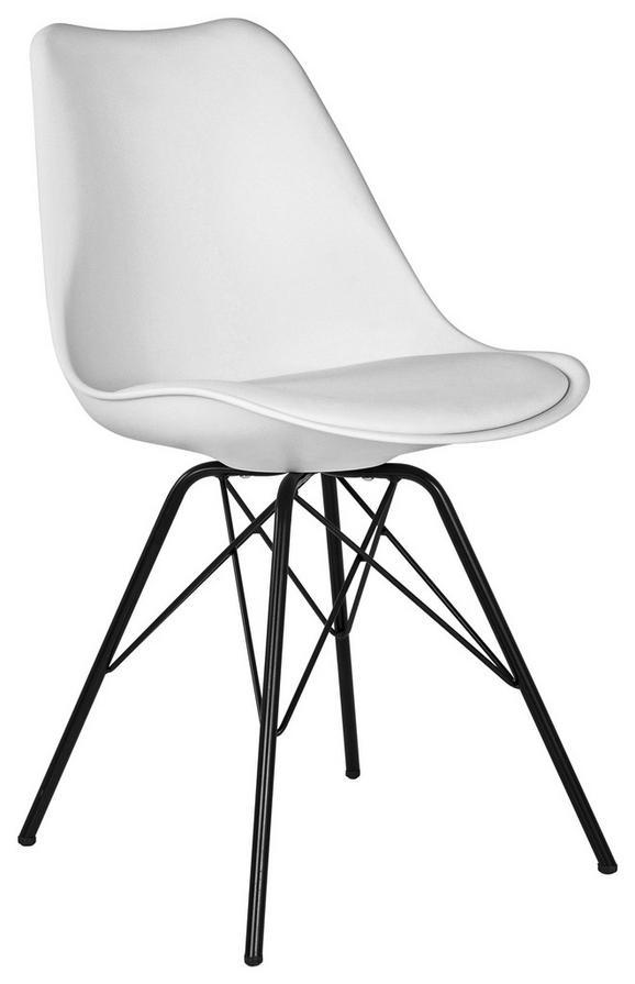 Stol Stefan - črna/bela, Moderno, kovina/umetna masa (55,5/86/48cm) - Modern Living
