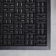 Fußmatte Karo Schwarz - Schwarz, Basics, Kunststoff (40/60cm) - Mömax modern living