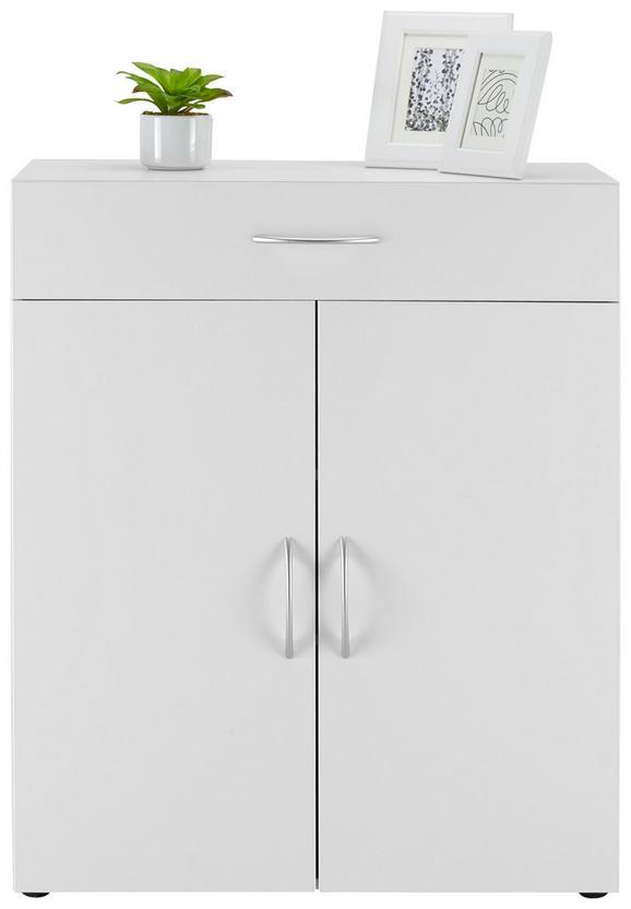 Kommode Weiß - Alufarben/Weiß, Holzwerkstoff/Kunststoff (80/98/40cm)