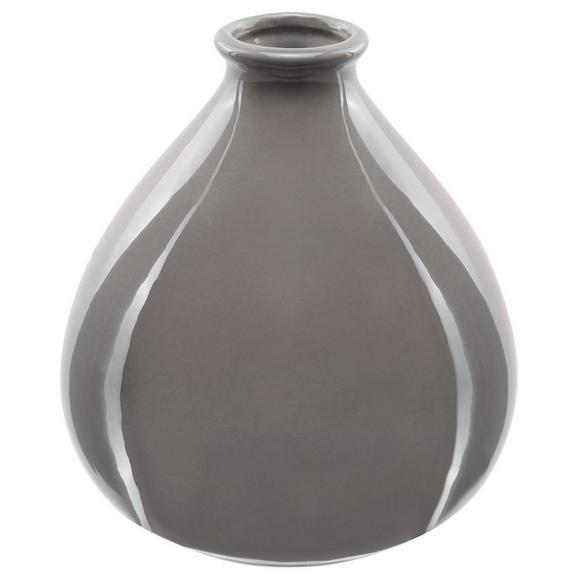 Vase Amelie Grün - Rosa/Weiß, Keramik (10/12cm) - Mömax modern living