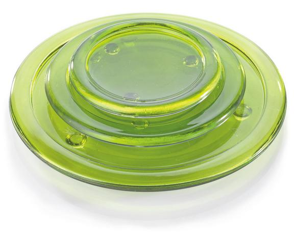 Kerzenteller Evelyn in 4 Farben aus Glas - Klar/Lila, KONVENTIONELL, Glas (13cm) - MÖMAX modern living