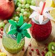 Trinkglas Pineapple in versch. Farben - Rosa/Mintgrün, Glas/Kunststoff (9/13,3cm) - Mömax modern living
