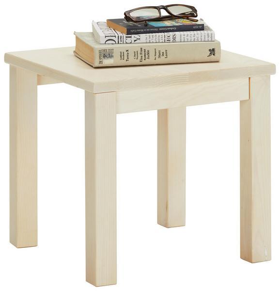 Nachtkästchen Kiefer Bianco - Kieferfarben, Holz (35/35/35cm) - Modern Living