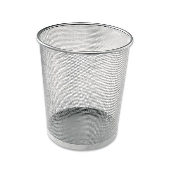 Papierkorb Mesh - Silberfarben, Basics, Metall (30,5/34,5/29,5cm) - Modern Living