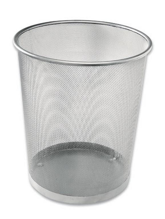 Papierkorb Mesh - Silberfarben, Basics, Metall (30,5/34,5/29,5cm) - XENOS
