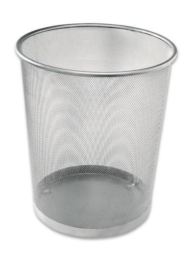 Papírkosár Mesh - ezüst színű, fém (30,5/34,5/29,5cm)