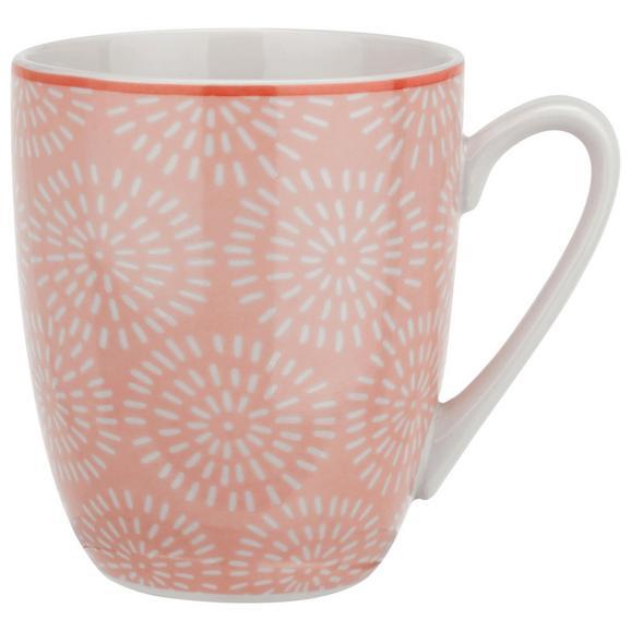 Kaffeebecher Nina Aus Porzellan Ca. 340ml - roza, keramika (8,5/10cm) - Mömax modern living