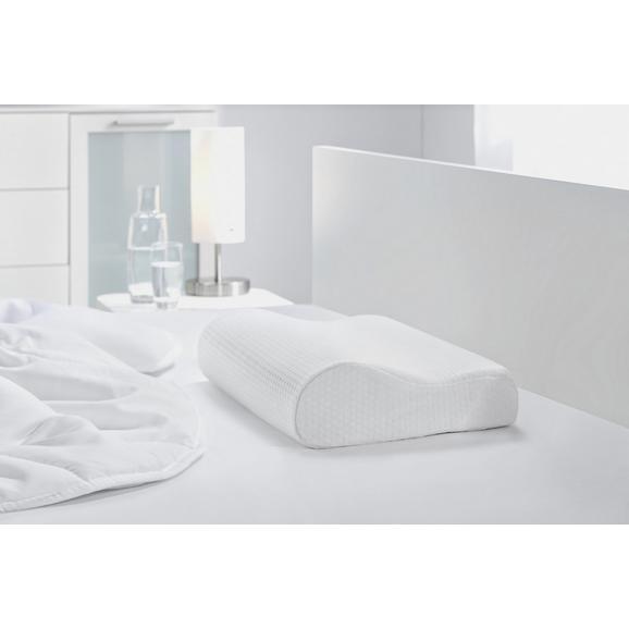 NACKENSTÜTZ- VISCO COMFORT, ca. 30x48x11cm - Weiß, Textil (30/48/11cm) - Based