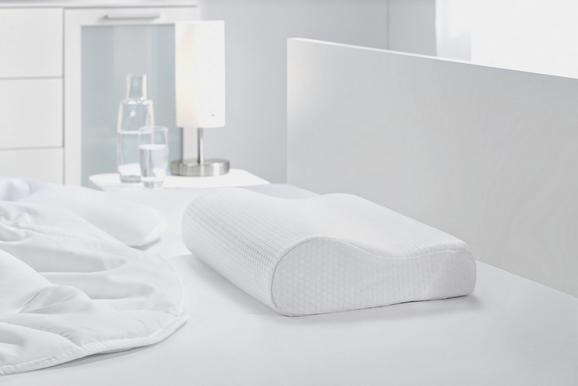 Nackenstütz- Visco Comfort, ca. 30x48x11cm - Weiß, Textil (30/48/11cm) - Nadana