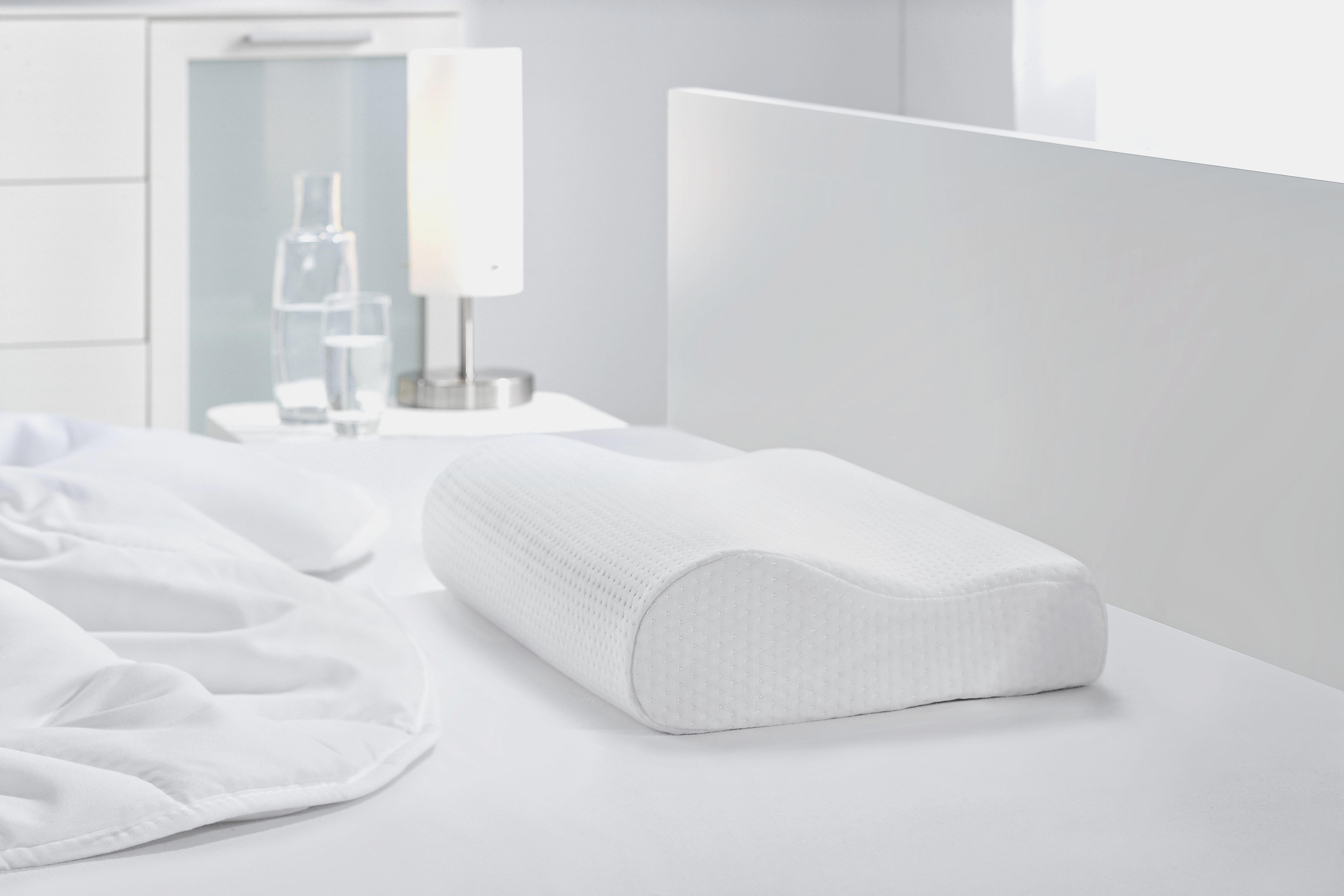 Nyakpárna Visco Comfort - fehér, textil (30/48/11cm) - MÖMAX modern living
