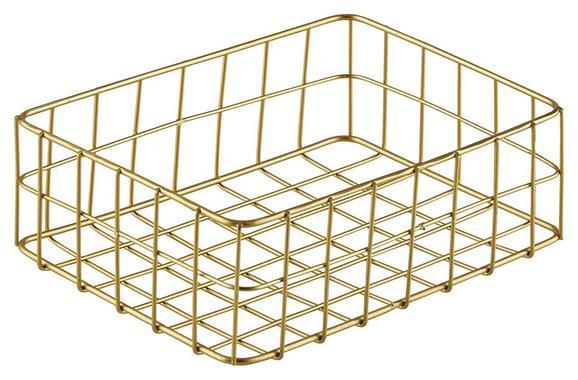 Korb Manhattan Gold - Goldfarben, Metall (30/20/7cm)