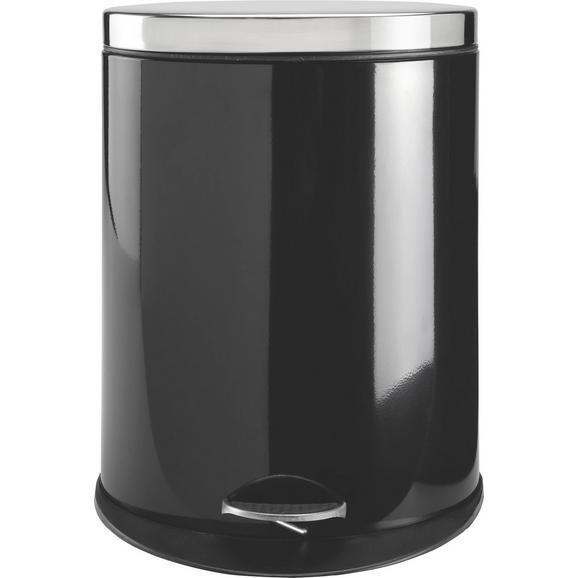 Koš Za Smeti Carmen - črna/nerjaveče jeklo, Moderno, kovina/umetna masa (34/43,7/25cm) - Mömax modern living