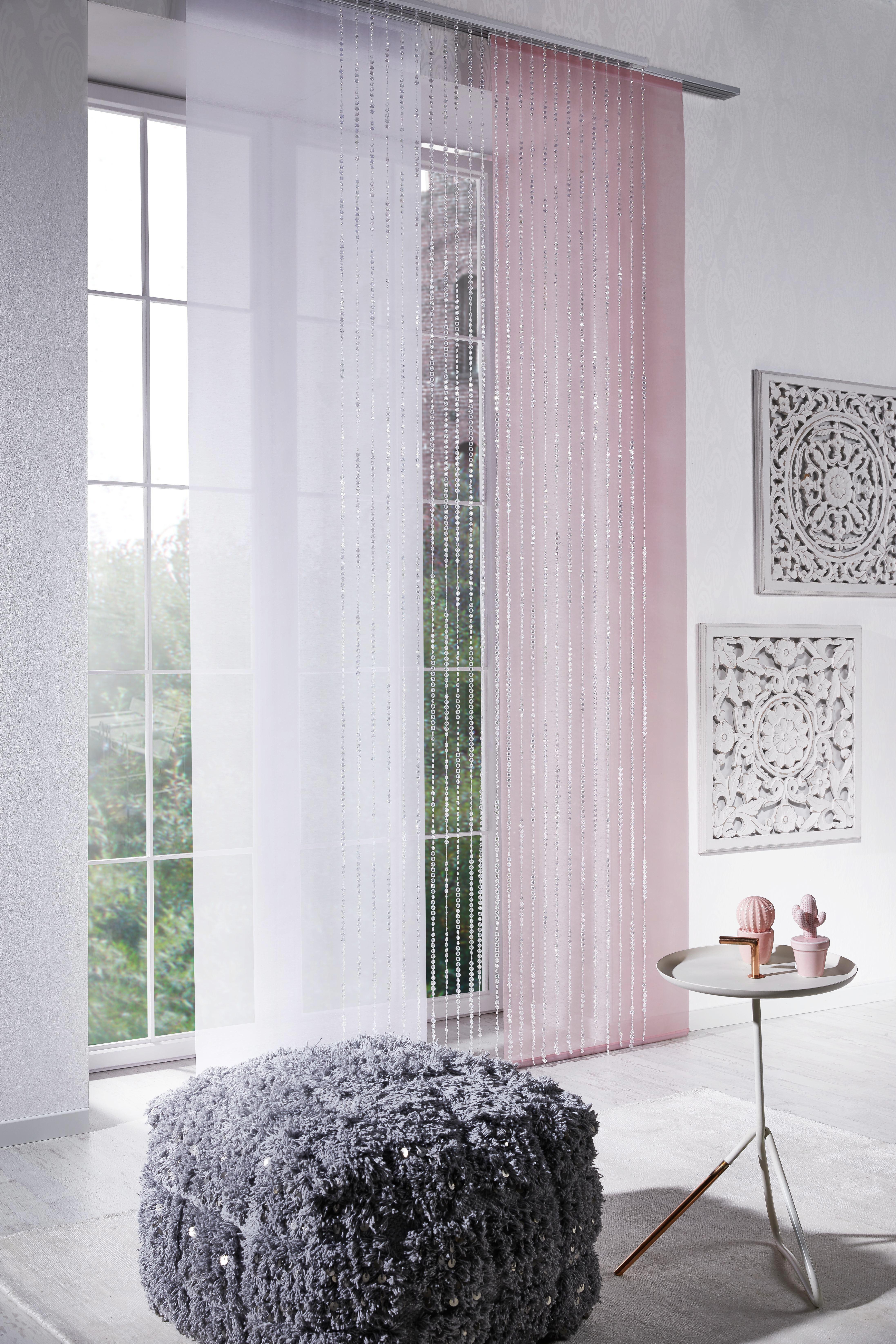 Flächenvorhang Stella Uni, ca. 60x245cm - Rosa, ROMANTIK / LANDHAUS, Textil (60/245cm) - MÖMAX modern living