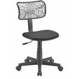 Vrtljivi Stol Bobby - črna/bela, Moderno, umetna masa/tekstil (41/73-85/50cm) - Mömax modern living