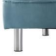 Schlafsofa Esther inkl. Kissen - Blau/Chromfarben, MODERN, Textil/Metall (181/82/89cm) - Modern Living