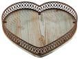 Tablett Firenze H ca. 5 cm - Eichefarben/Rostfarben, MODERN, Holz/Metall (31,5/5/29,5cm) - Mömax modern living