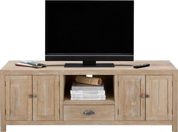 TV-Element Savannah - Kieferfarben, ROMANTIK / LANDHAUS, Holz/Metall (155/55/45cm) - Premium Living
