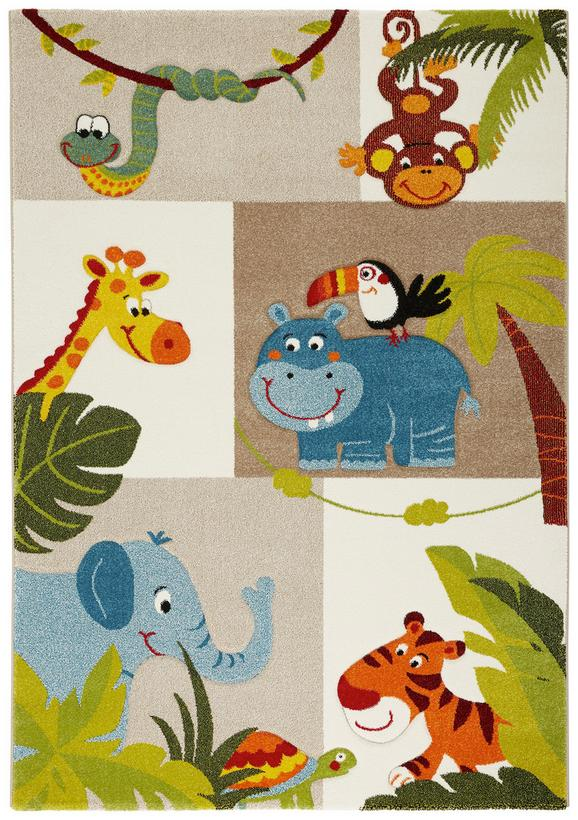 Kinderteppich Jungle Bunt ca. 120x170cm - Multicolor, Textil (120/170cm) - Mömax modern living