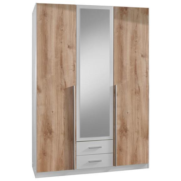 Omara S Klasičnimi Vrati Skate -top- - aluminij/bela, Konvencionalno, umetna masa/leseni material (135/198/58cm) - Modern Living
