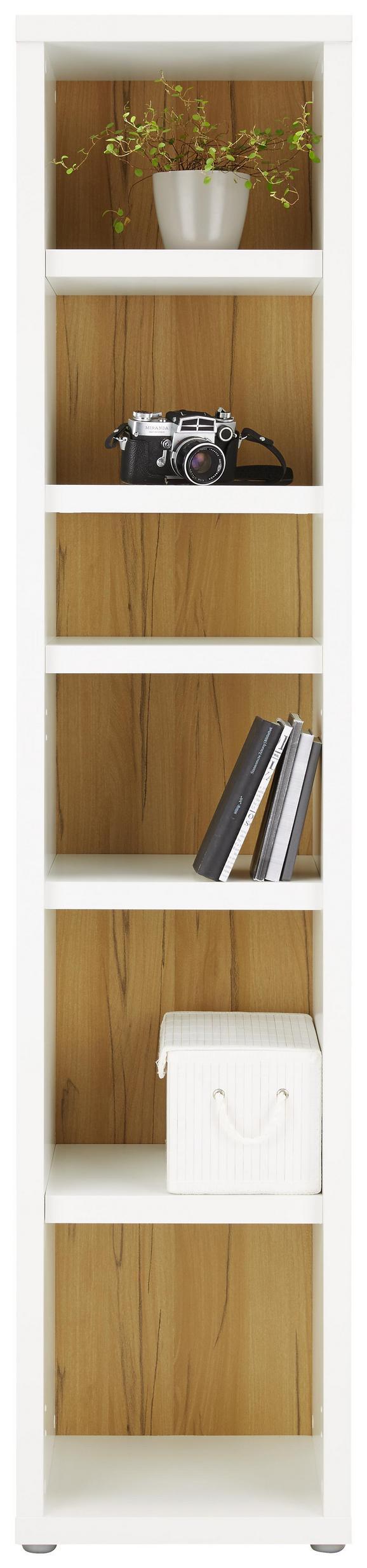 Regal Weiß/Eichefarben - Eichefarben/Weiß, MODERN, Holzwerkstoff (41/192/37cm)