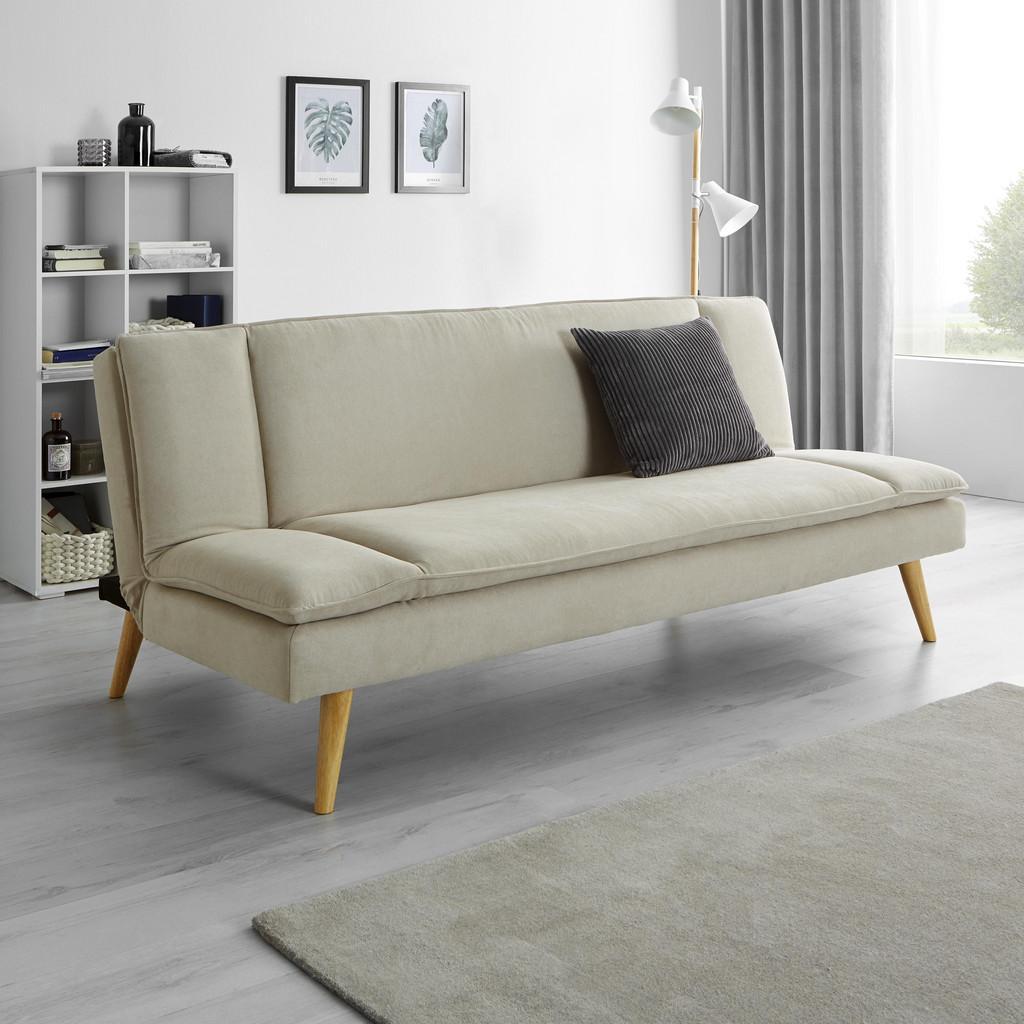 Sofa mit Schlaffunktion in Beige 'Lorenzo'