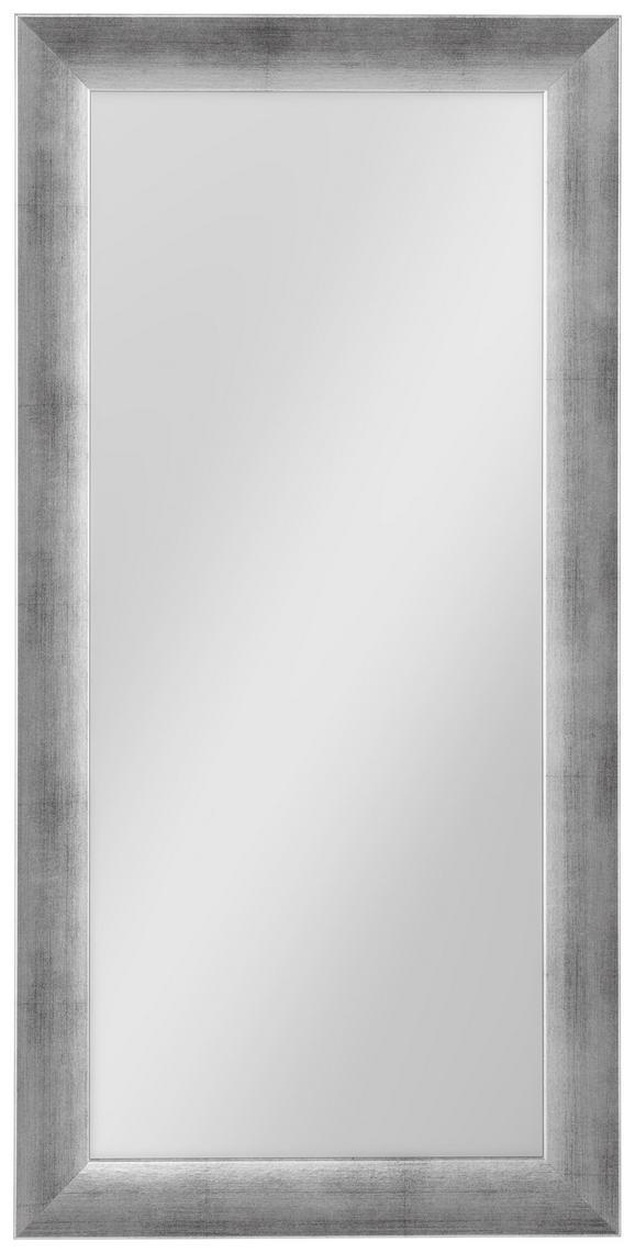Wandspiegel in Silber ca. 40x80cm - Silberfarben, MODERN, Glas/Holzwerkstoff (40/80cm) - MÖMAX modern living