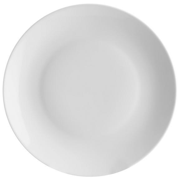 Speiseteller Nancy aus Porzellan Ø ca. 27cm - Weiß, MODERN, Keramik (27/2,2cm) - Mömax modern living