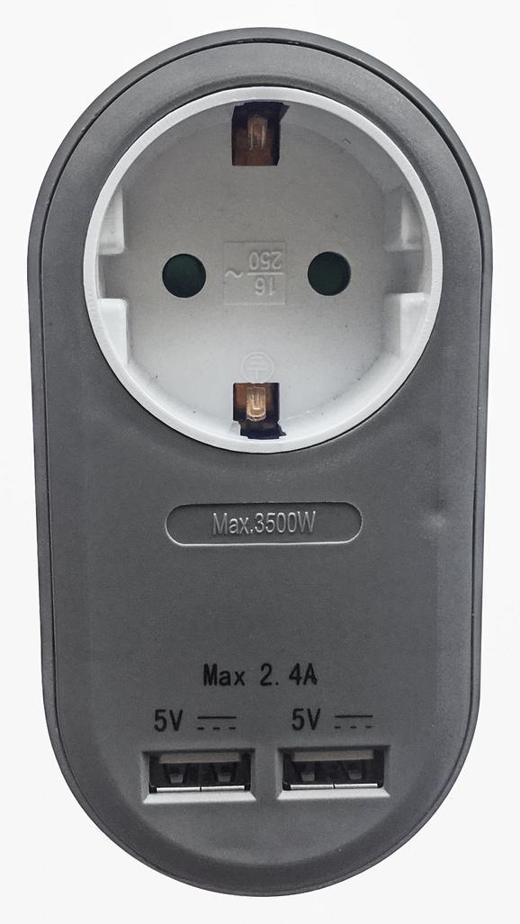 Adapter Amir in verschiedenen Farben - Kunststoff (10,8/5,6/7,22cm) - Mömax modern living