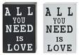 Bild Love, ca. 15x10x4cm - Schwarz/Weiß, MODERN, Holz (15/10/4cm) - MÖMAX modern living