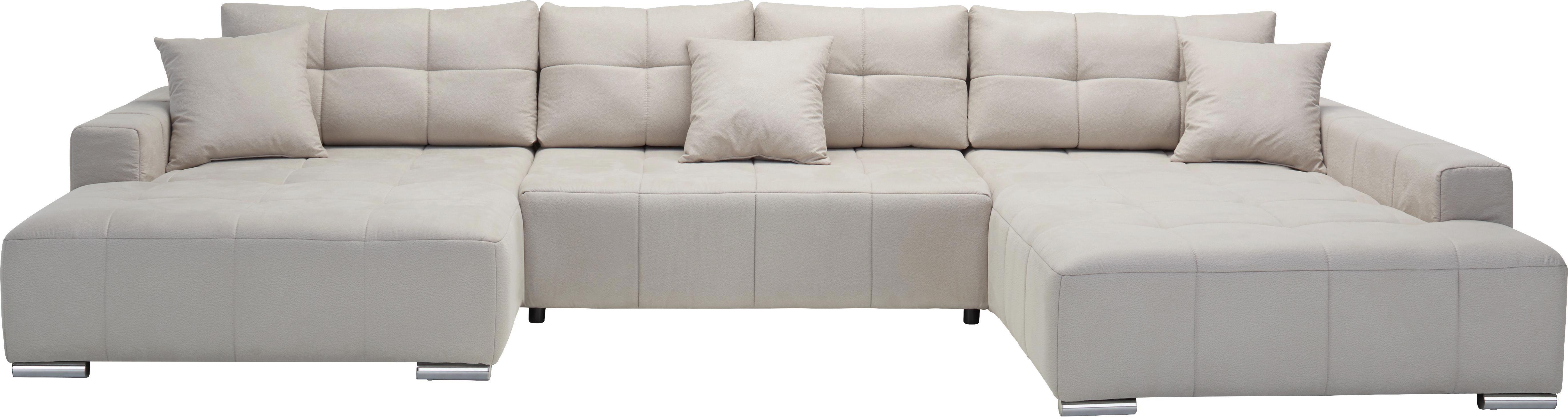 Sarokgarnitúra Allesio - bézs, modern, textil (170/210/410cm) - MODERN LIVING