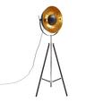 Stehleuchte Jule, max. 60 Watt - Goldfarben/Schwarz, LIFESTYLE, Metall (50/176cm) - Mömax modern living