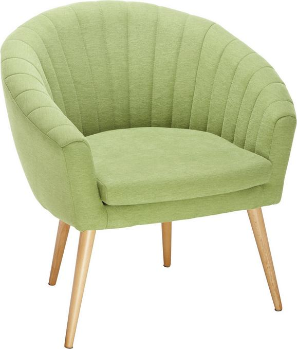 Fotelj Bea -exklusiv- - naravna/zelena, Moderno, tekstil (75/77/45/66cm) - Mömax modern living