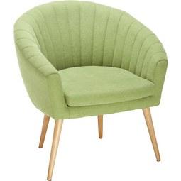 Sessel in Grün - Naturfarben/Grün, MODERN, Textil (75/77/45/66cm) - Mömax modern living