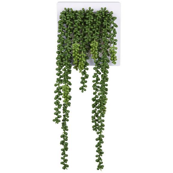 Fali Dekoráció Hannah - Zöld/Fehér, Kő/Műanyag (19,5/19,5/13cm) - Mömax modern living