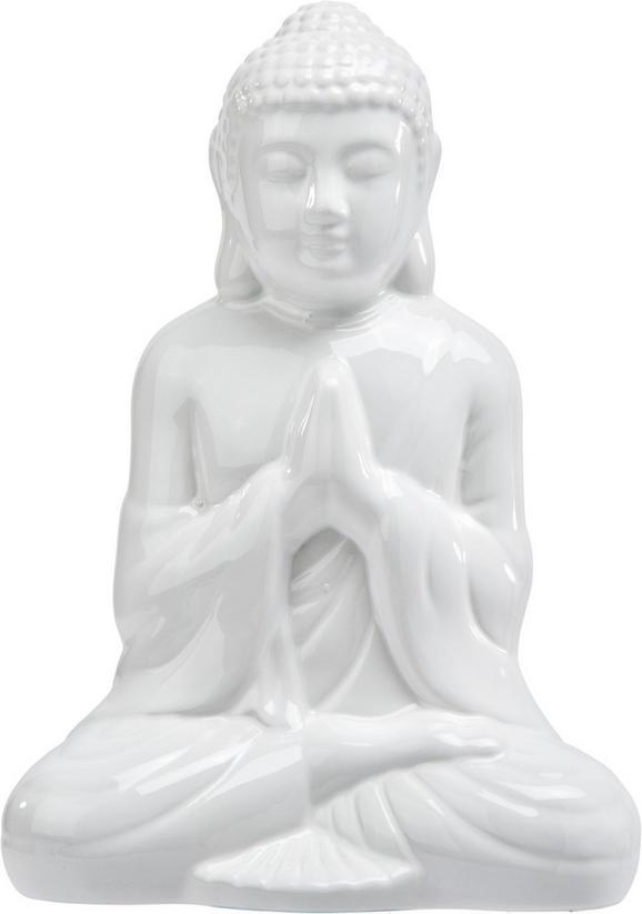 Buda Buddha - siva/bela, Trendi, keramika (14cm) - Mömax modern living