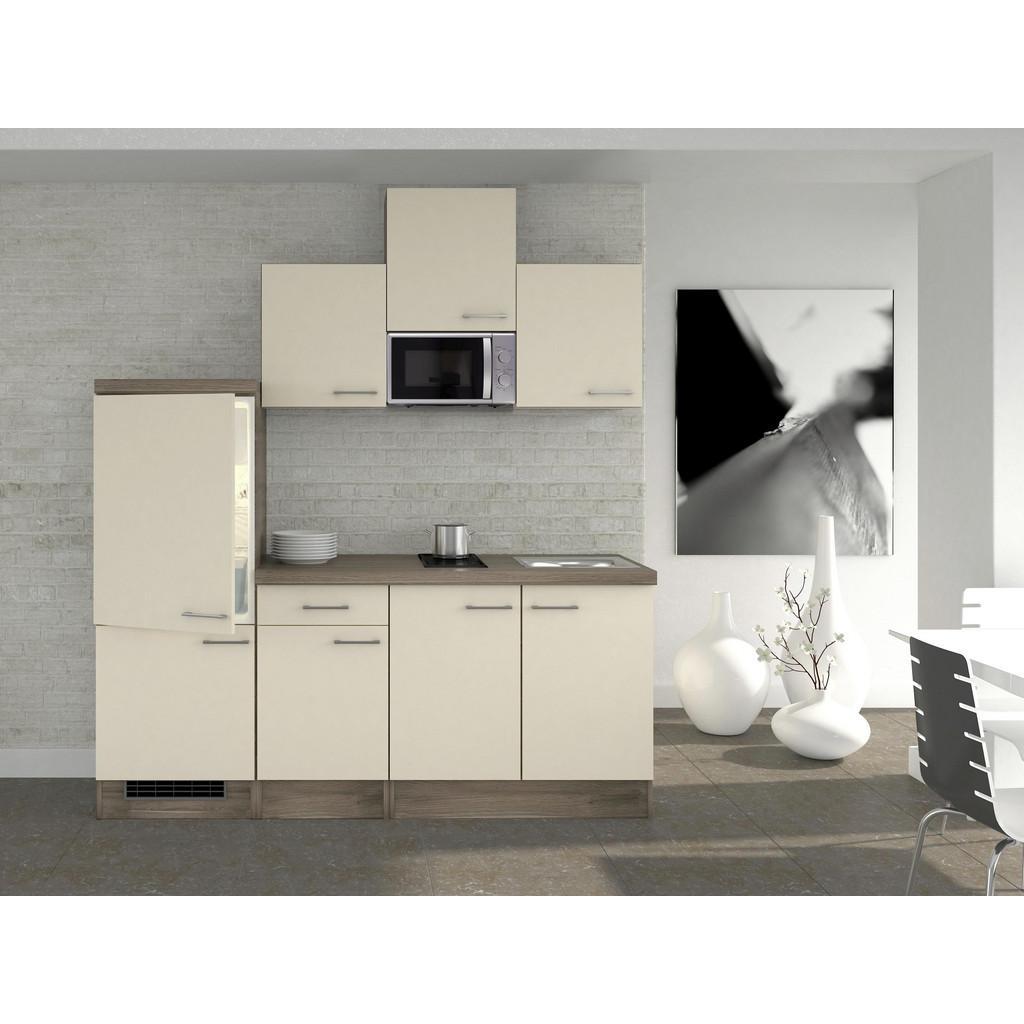 Küchenblock in Magnolie inkl. Geräte uns Spüle 'Eico'