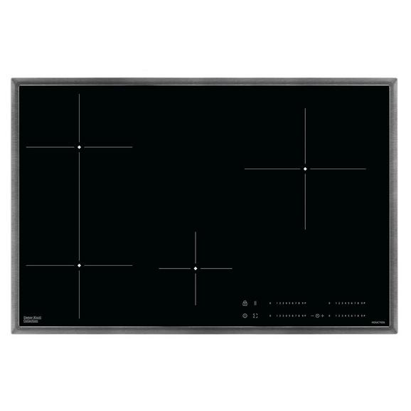 Induktionskochfeld DKEI8470XB - Edelstahlfarben/Schwarz, Basics, Glas/Metall (76,6/50,6cm) - Dieter Knoll