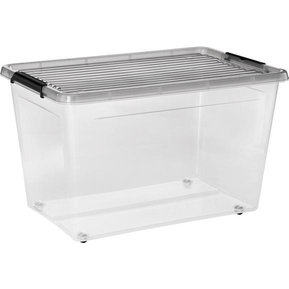 Box mit Deckel Rudolf ca. 60l - Klar, Kunststoff (58/39/35cm) - Mömax modern living