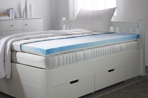 Topper Geel-feel 90x200cm - Weiß, Textil (90/200cm)