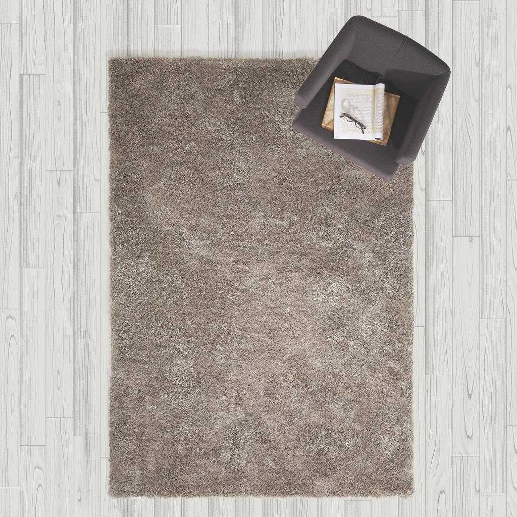 Hochflorteppich in Grau ca.160x230cm 'Shaggy'