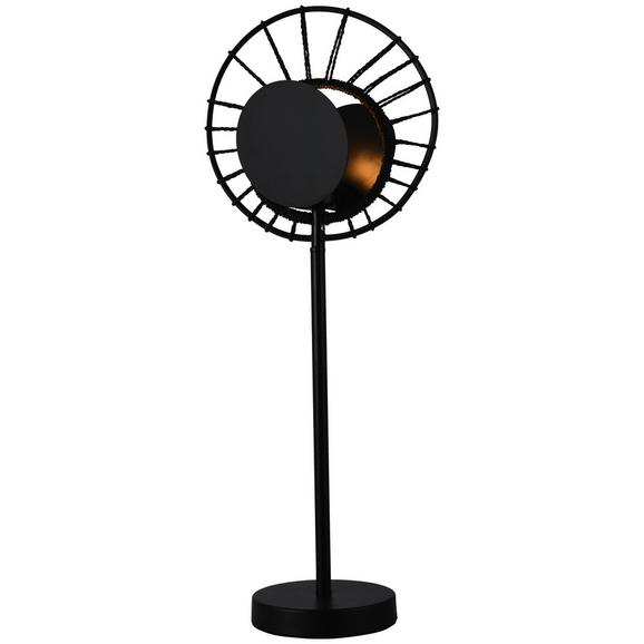 Asztali Lámpa Sun - Fekete, Lifestyle, Fém (26/57.5cm) - Modern Living