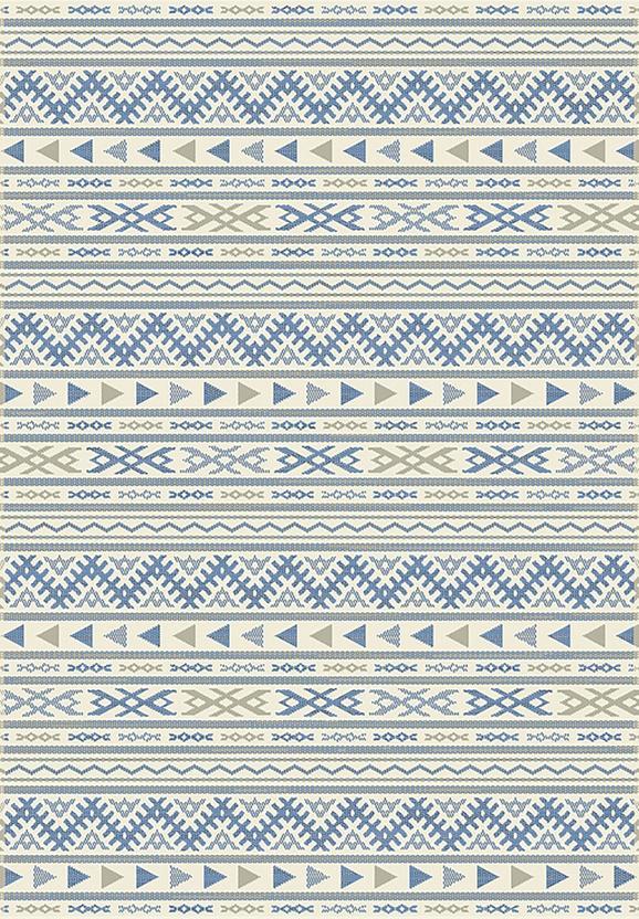 Flachwebeteppich Kelim Blau 80x250cm - Blau/Naturfarben, MODERN, Textil (80/250cm) - Mömax modern living