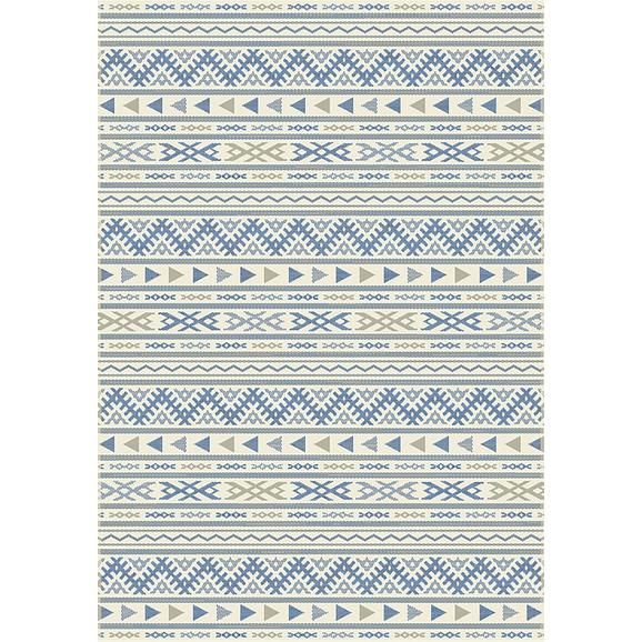 Flachwebeteppich Kelim in Blau ca.80x250cm - Blau/Naturfarben, MODERN, Textil (80/250cm) - Mömax modern living